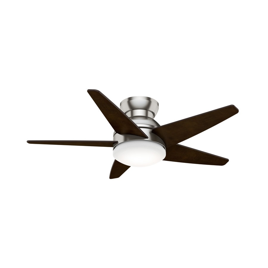 Casablanca 1-Pack Isotope LED 44-in Brushed Nickel Flush mount Indoor Ceiling Fan with Light Kit