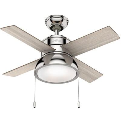 Polished Nickel Led Indoor Ceiling Fan
