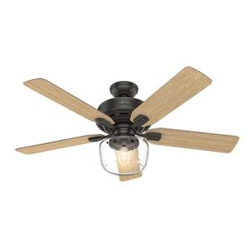 Hunter Large Room Led 52 In Indoor Ceiling Fan With Light Kit And Remote