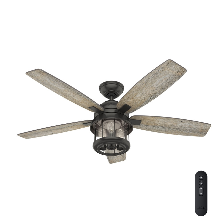 Ceiling Light Fan: Hunter Coral Bay 52-in Noble Bronze LED Indoor/Outdoor