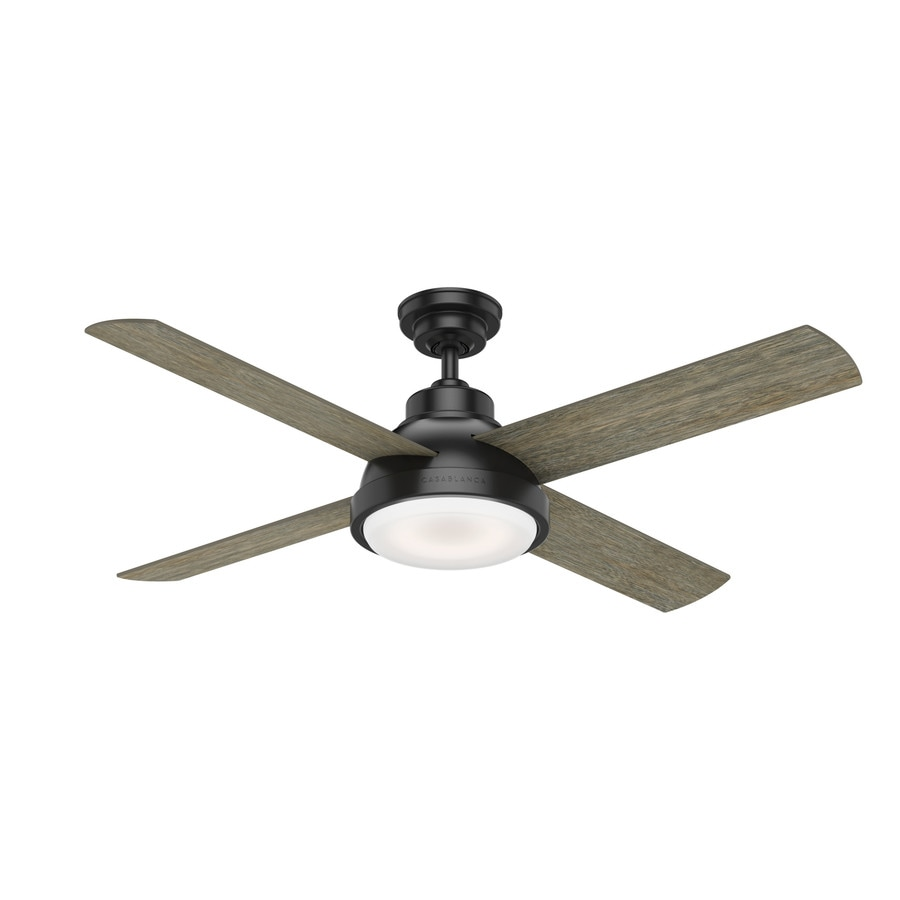 Casablanca Levitt Led 54 In Matte Black Indoor Ceiling Fan