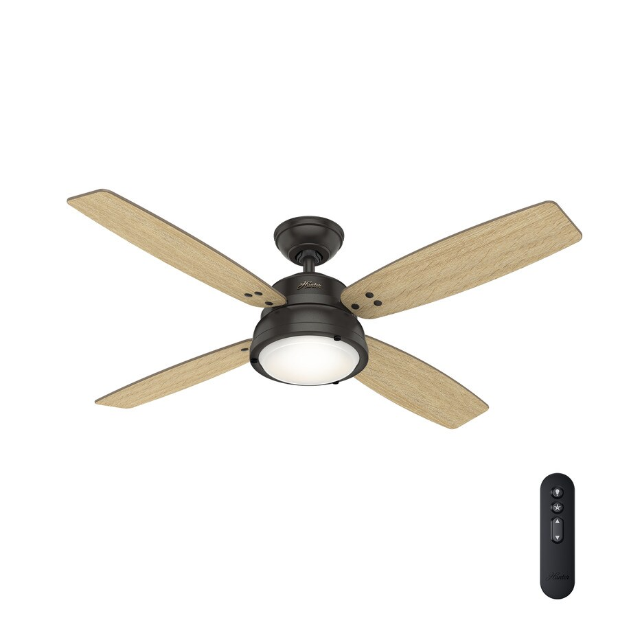 Hunter Wingate 52-in Noble Bronze LED Indoor Ceiling Fan