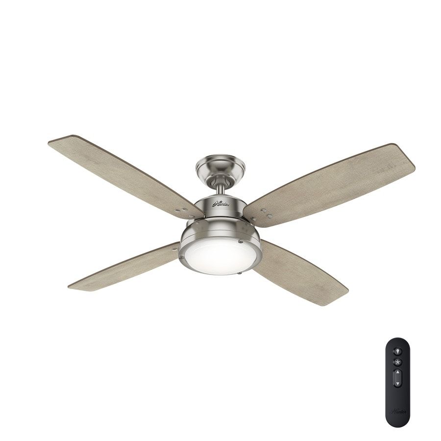 Shop Hunter Wingate 52-in Brushed Nickel Indoor Ceiling