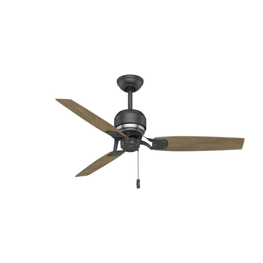 Casablanca Tribeca 52-in Aged Steel Indoor Downrod Mount Ceiling Fan (3-Blade) ENERGY STAR