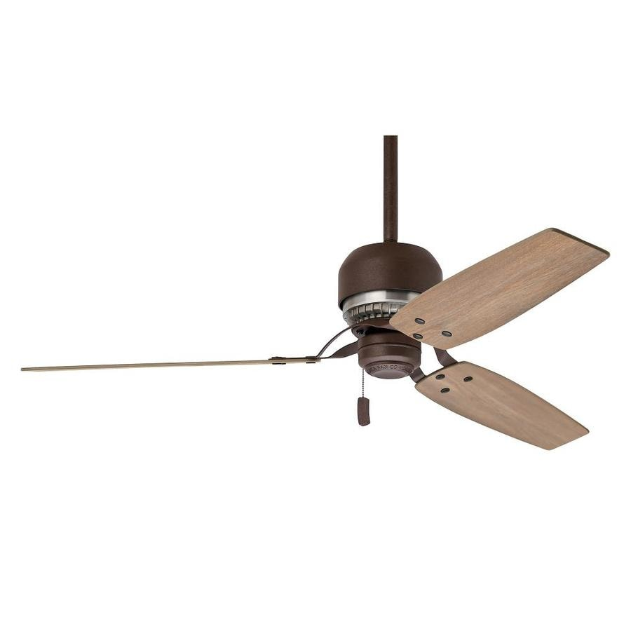 Casablanca Tribeca 52-in Industrial Rust Indoor Downrod Mount Ceiling Fan (3-Blade) ENERGY STAR