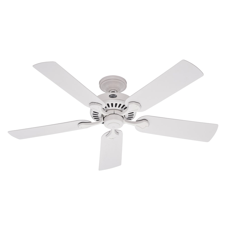 Hunter 52-in 5 Minute Fan Outdoor Damp White