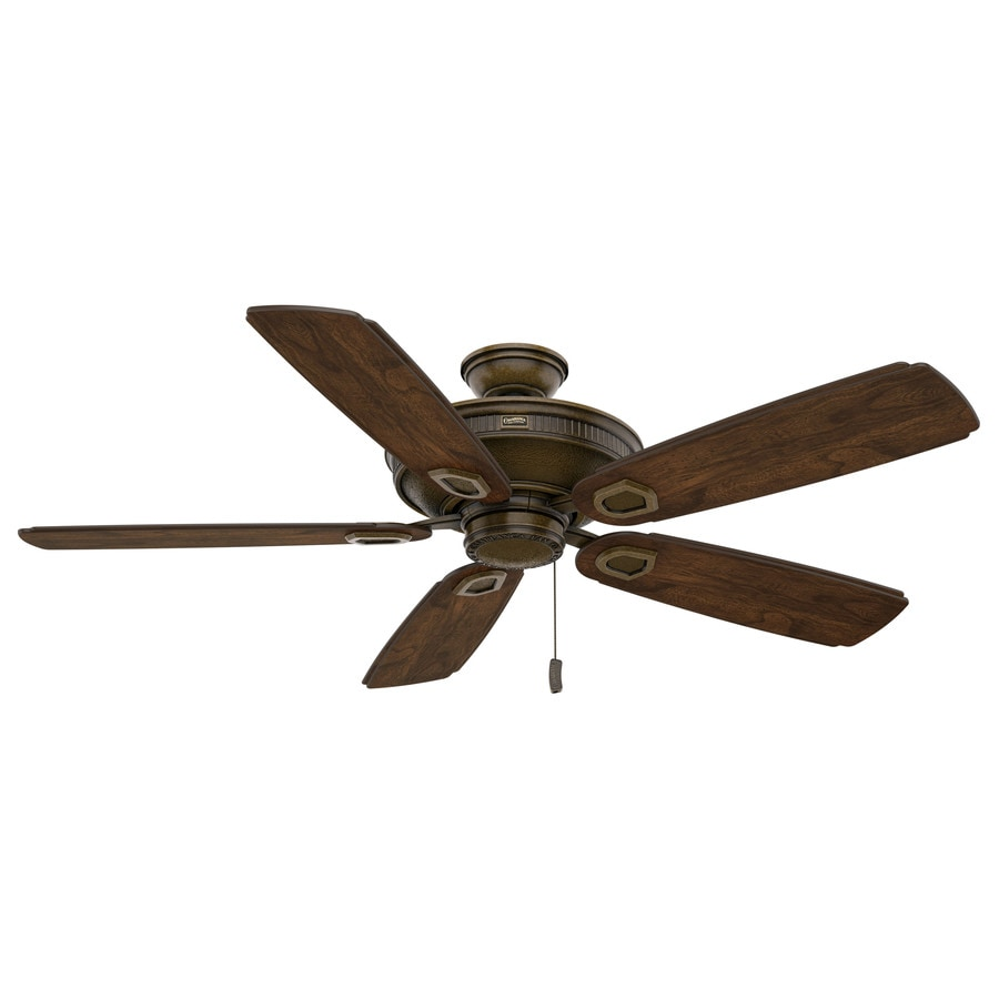 Casablanca Heritage 60-in Aged Bronze Downrod or Close Mount Indoor/Outdoor Ceiling Fan ENERGY STAR