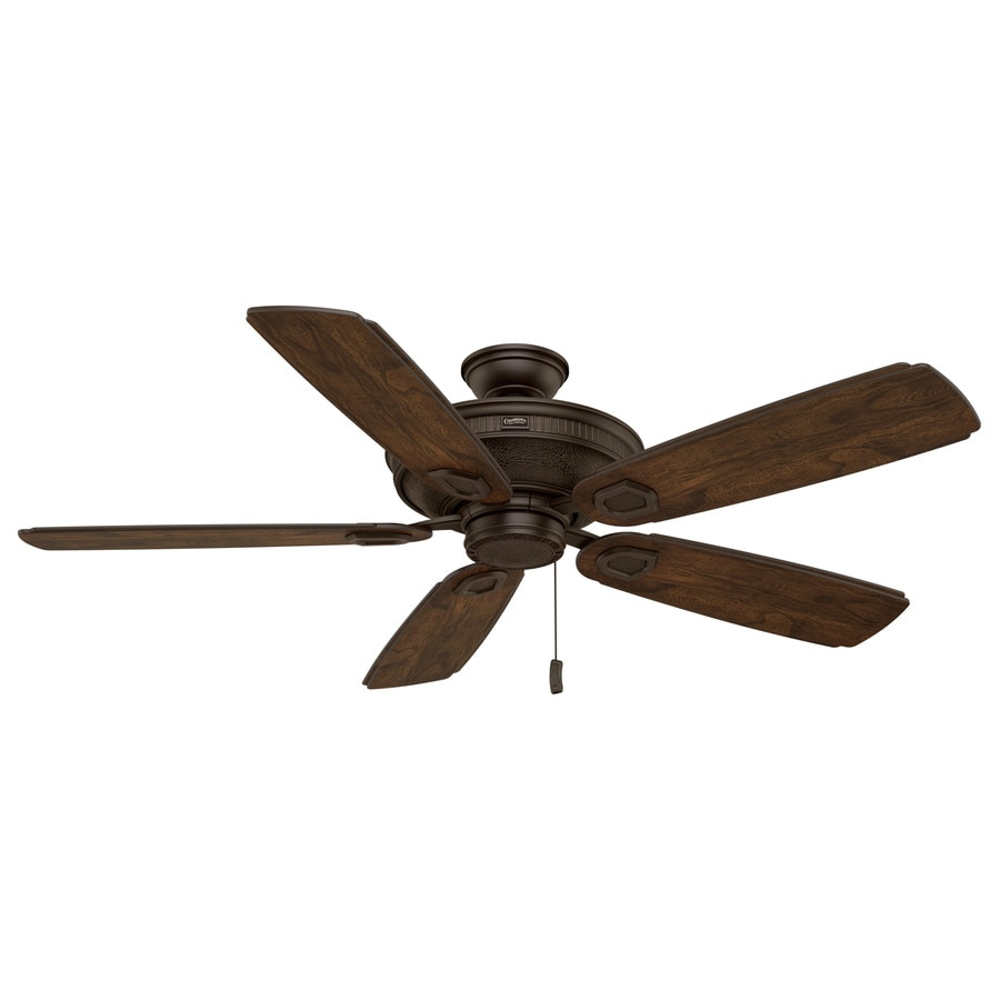 Casablanca Heritage 60-in Brushed Cocoa Indoor/Outdoor Downrod Or Close Mount Ceiling Fan ENERGY STAR