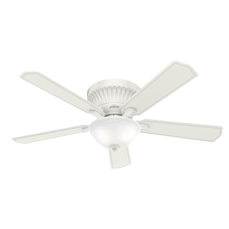 Hunter 168-in Black Anodized Aluminum Indoor Commercial Downrod Mount Ceiling Fan and Remote (4-Blade)