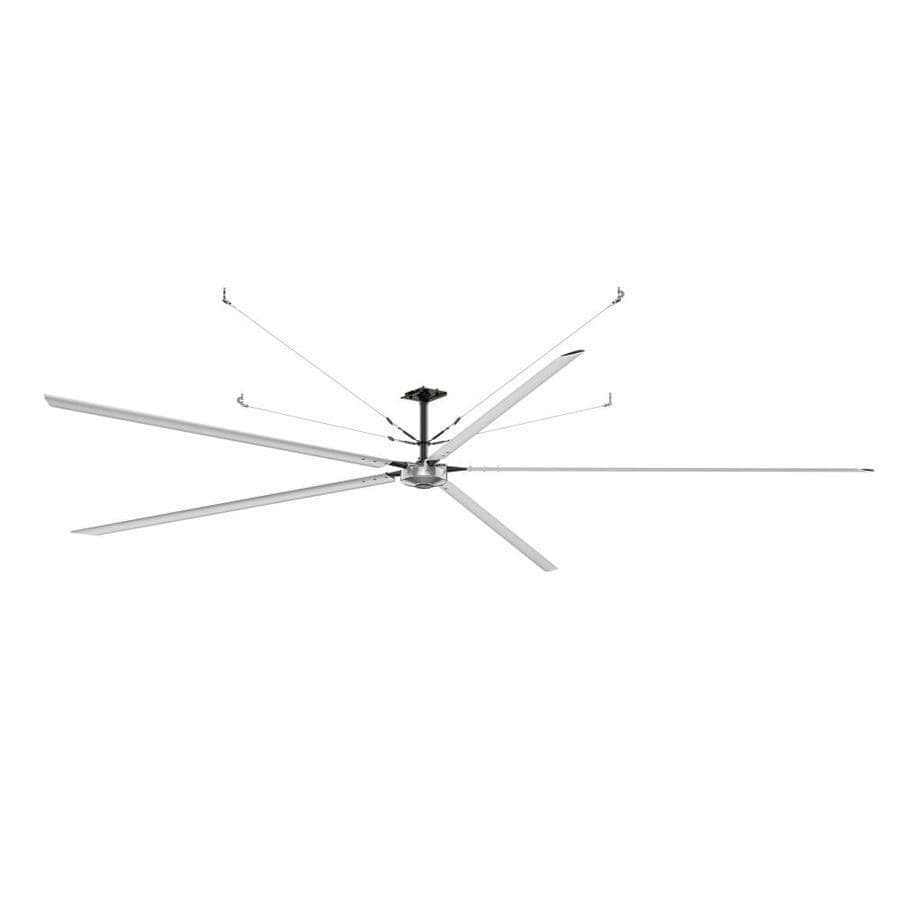 Hunter 192-in Anodized Aluminum Indoor/Outdoor Commercial Downrod Mount Ceiling Fan and Remote