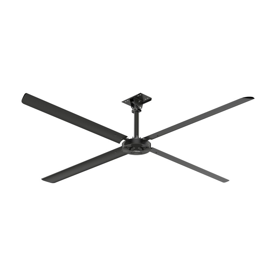 Shop Hunter Industrial Xp Fan 110 Volt Single Phase 144 In Ceilingfanwiringremote1powerwirejpg Anodized Black Indoor