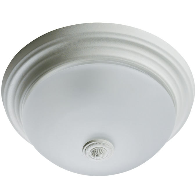 Harbor Breeze 70 Cfm Satin White Bathroom Fan With Light In The Bathroom Fans Heaters Department At Lowes Com