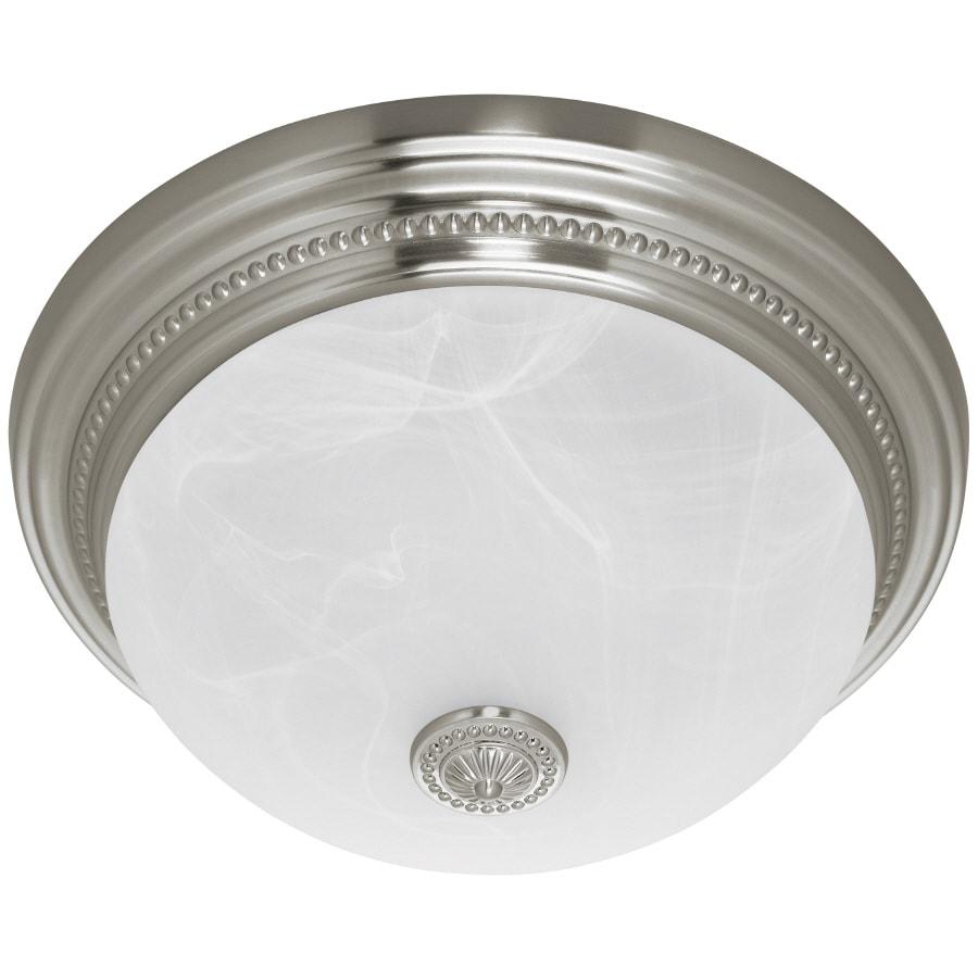 Bathroom Ceiling Light With Fan: Shop Harbor Breeze 1.5-Sone 70-CFM Nickel Bathroom Fan At