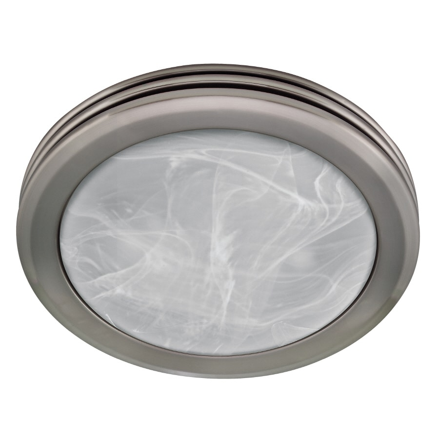 Harbor Breeze 2-Sone 80-CFM Nickel Bathroom Fan with Light