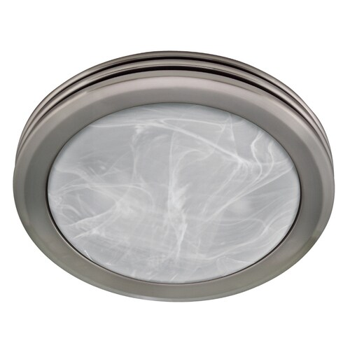 Harbor Breeze 2-Sone 80-CFM Nickel Bathroom Fan with Light ...