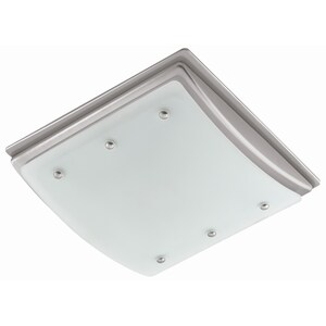 Harbor Breeze 2 Sone 100 Cfm Nickel Bathroom Fan With Light At Lowes