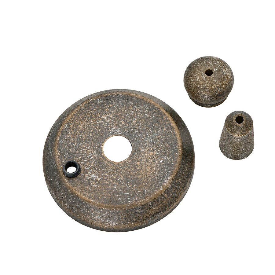 Casablanca 3-in L x 3-in dia Aged Bronze Light Cap and Finial Kit