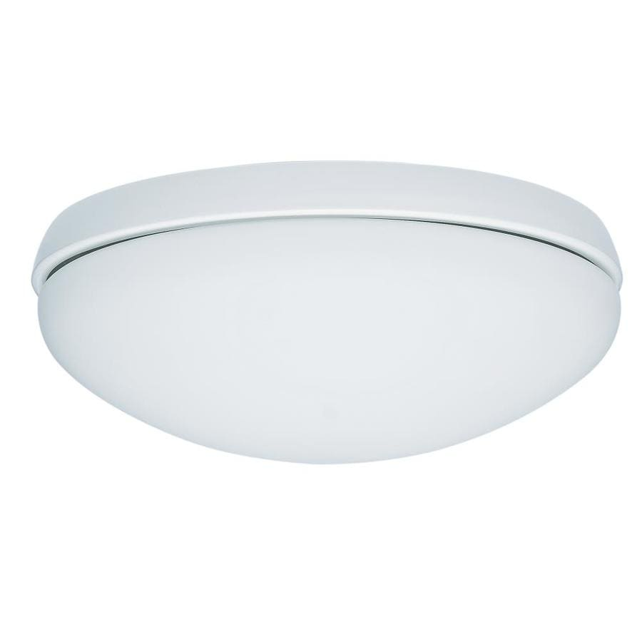 Shop hunter low profile 2 light white fluorescent ceiling fan light hunter low profile 2 light white fluorescent ceiling fan light kit with frosted glass aloadofball Gallery
