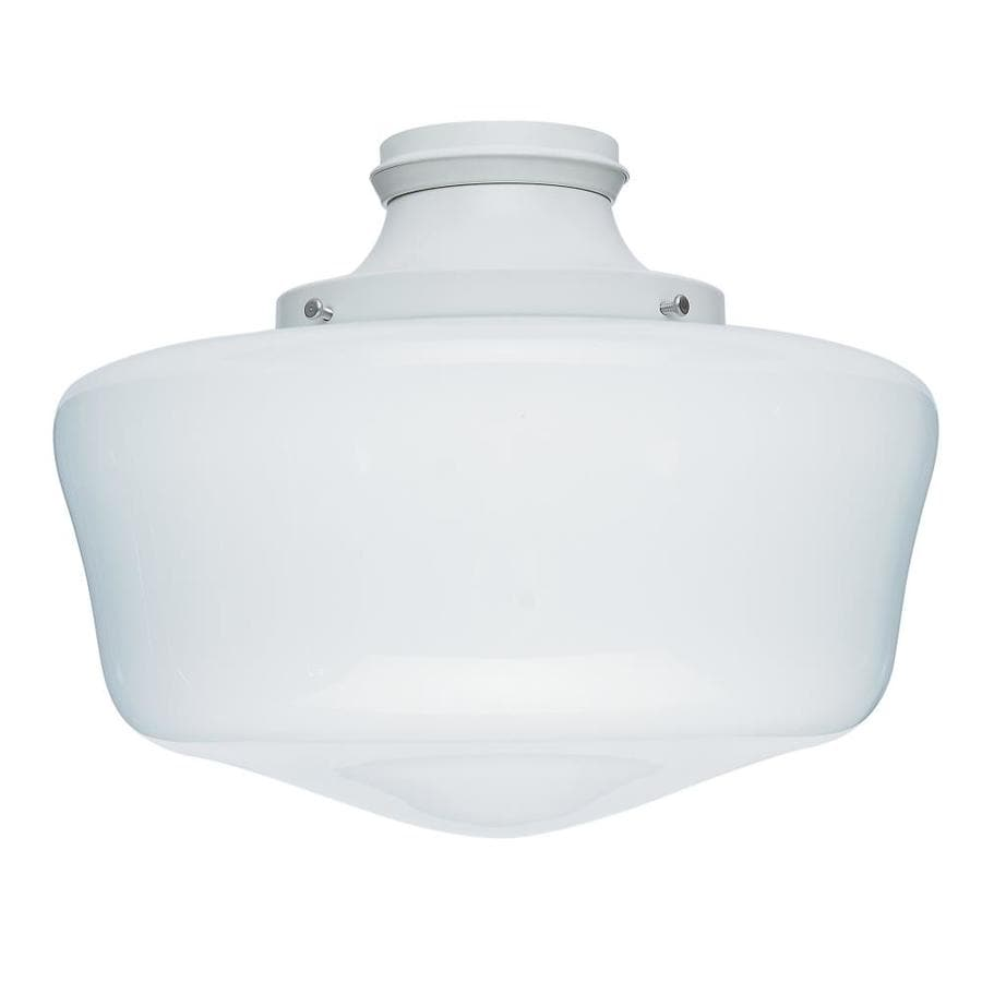Hunter 1-Light White Fluorescent Ceiling Fan Light Kit with Frosted Glass