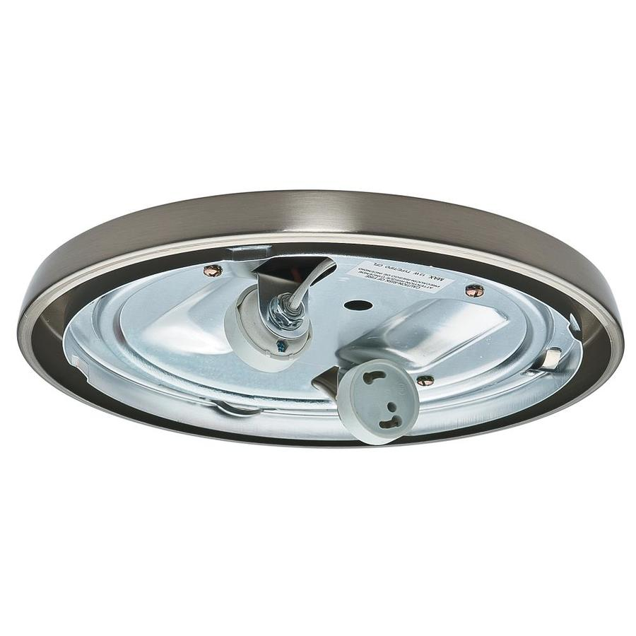 Casablanca Low Profile 2-Light Brushed Nickel Fluorescent Ceiling Fan Light Kit with Glass or Shade ENERGY STAR