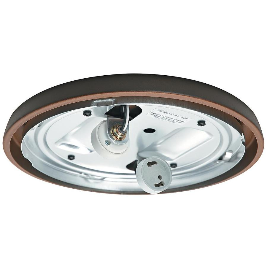 Casablanca Low Profile 2-Light Brushed Cocoa Fluorescent Ceiling Fan Light Kit with Glass or Shade ENERGY STAR