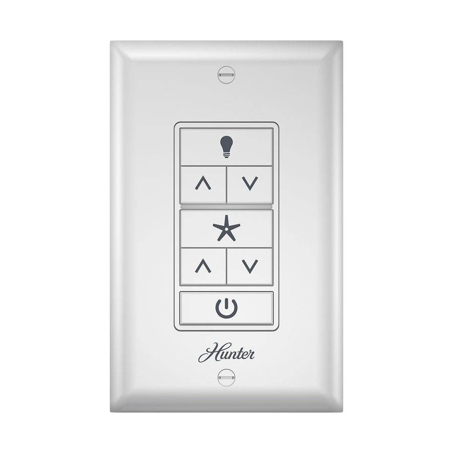 Hunter White Wall Mount Universal Ceiling Fan Remote Control