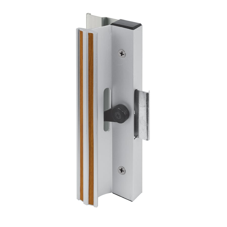 Shop prime line pk aluminum finish surface mounted for Door handle with lock