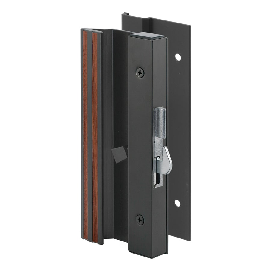 Shop prime line low profile black finish aluminum surface for Sliding glass doors hardware