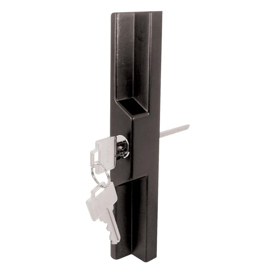 Prime Line Universal Black Sliding Glass Door Outside Pull For Mortise Type  Latch