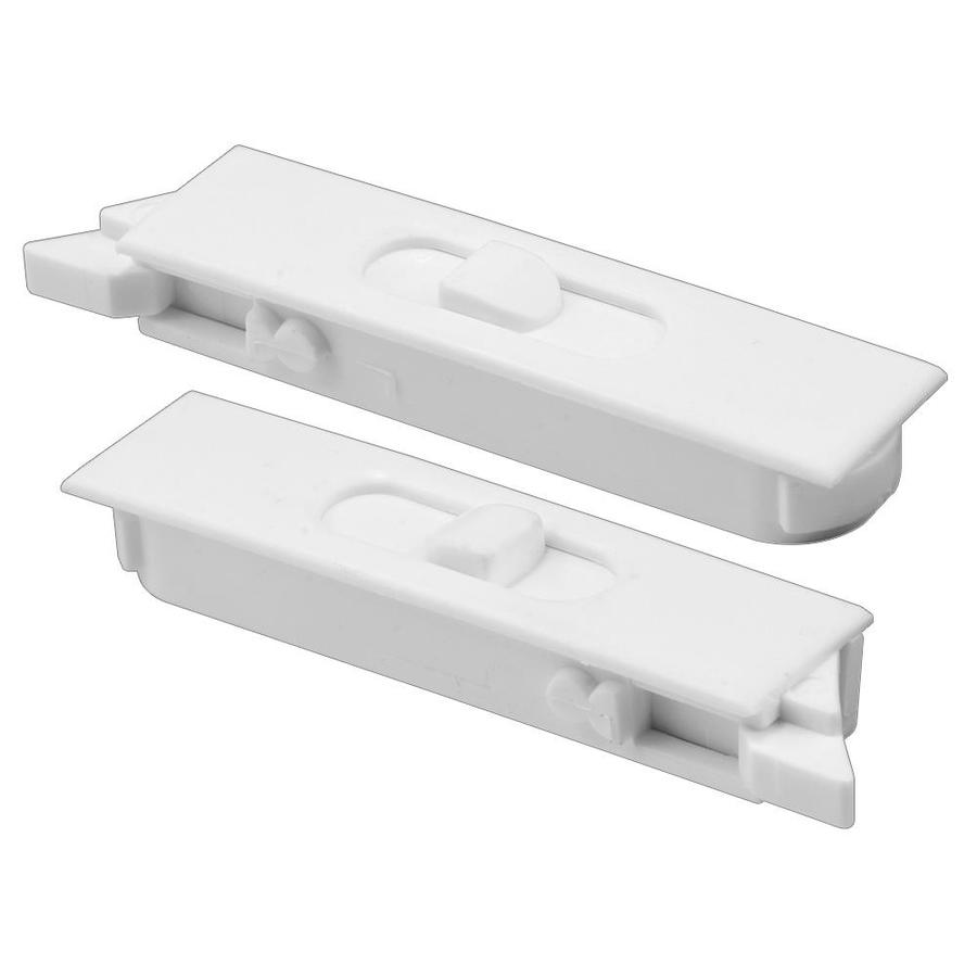 Prime-Line 2-Pack Cam Action White Plastic Sliding Window Sash Locks