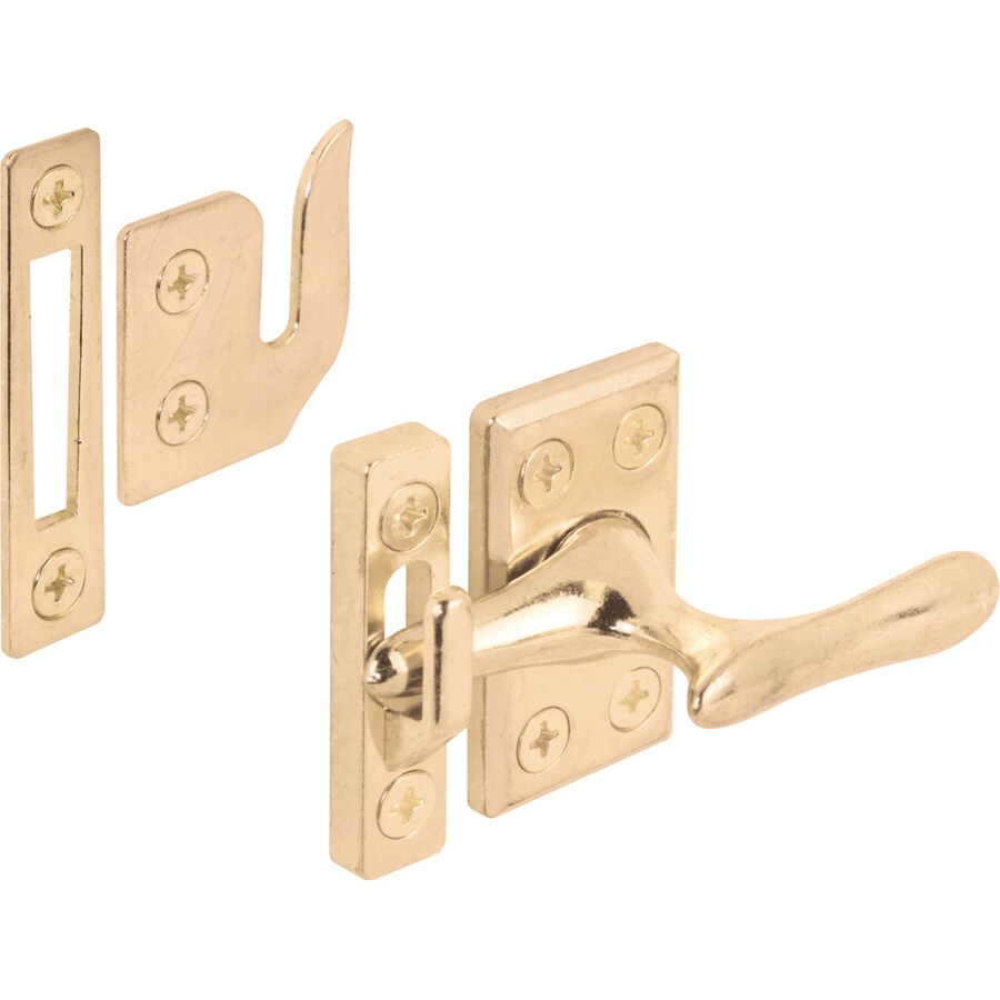 Prime-Line 1-3/4-in Brass Plated Lock