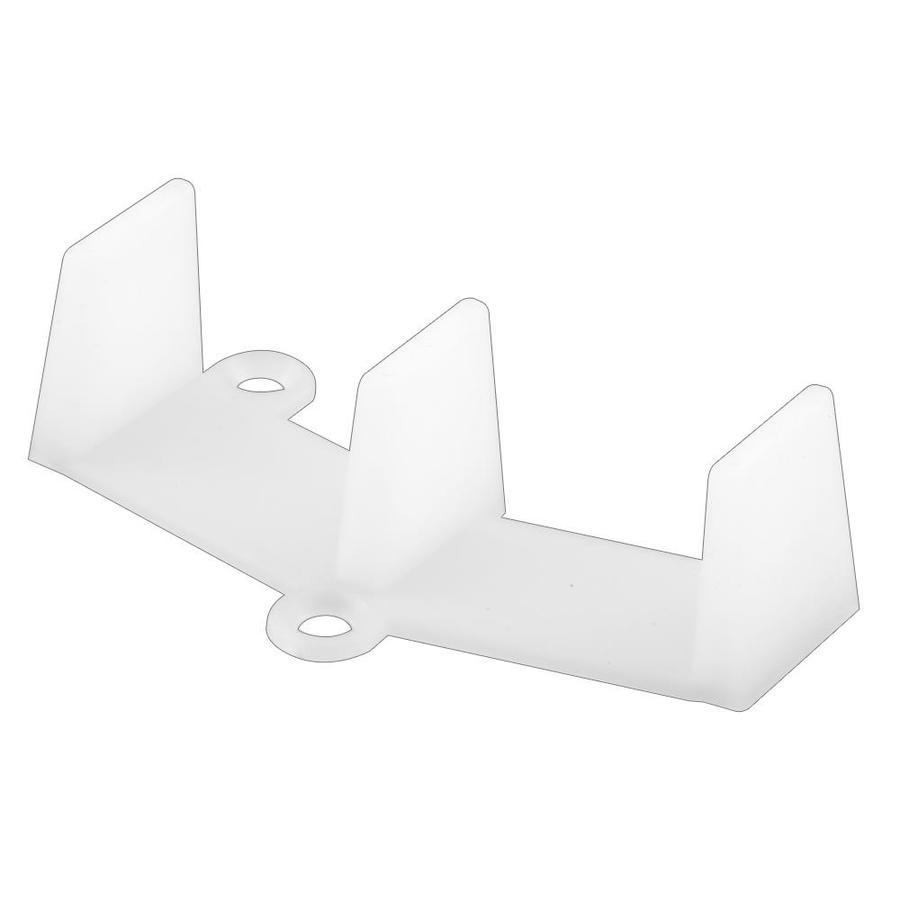 Prime-Line Nylon Bi-Pass Bottom Sliding Closet Door Guide