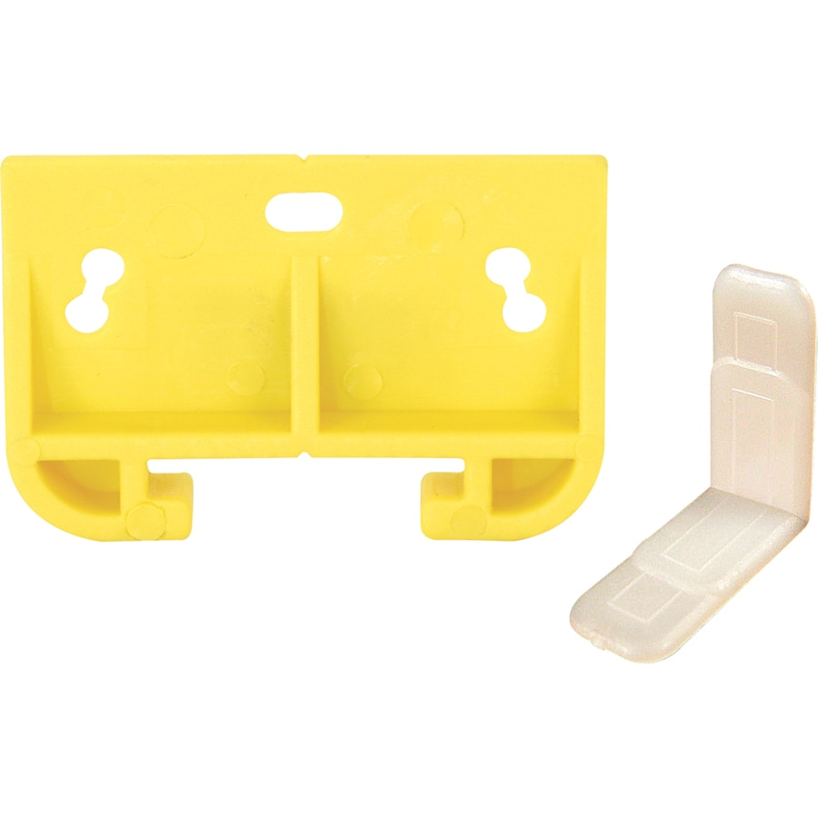 Prime-Line 2-Pack White Plastic Drawer Track Guide Kit