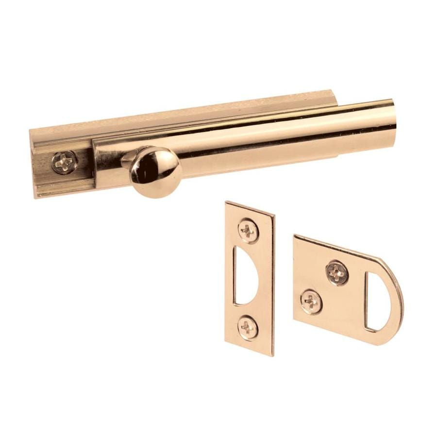 Prime-Line 3-in Brass Surface Bolt