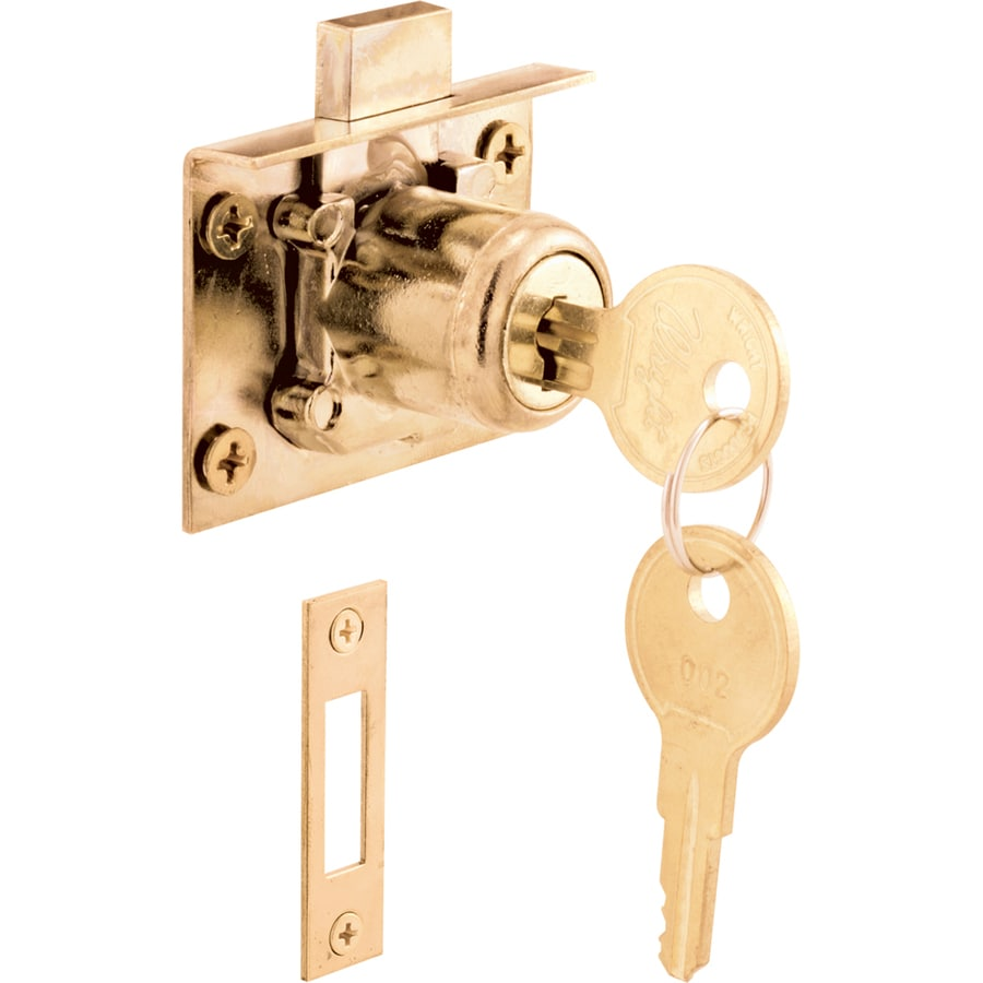 Shop Gatehouse Brass Die-Cast Drawer and Cabinet Lock at Lowes.com