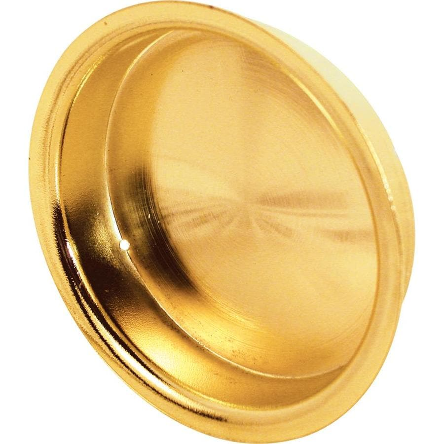 Prime-Line 2.12-in Polished Brass Sliding Closet Door Pull