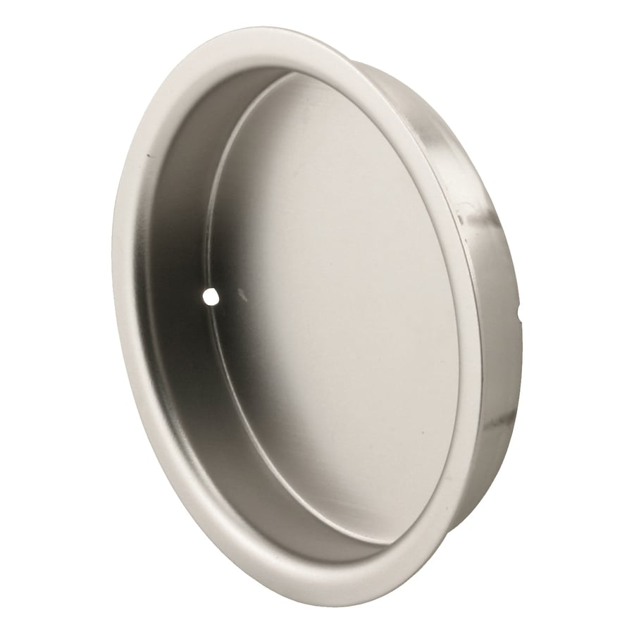 primeline 2in plated satin nickel sliding closet door pull