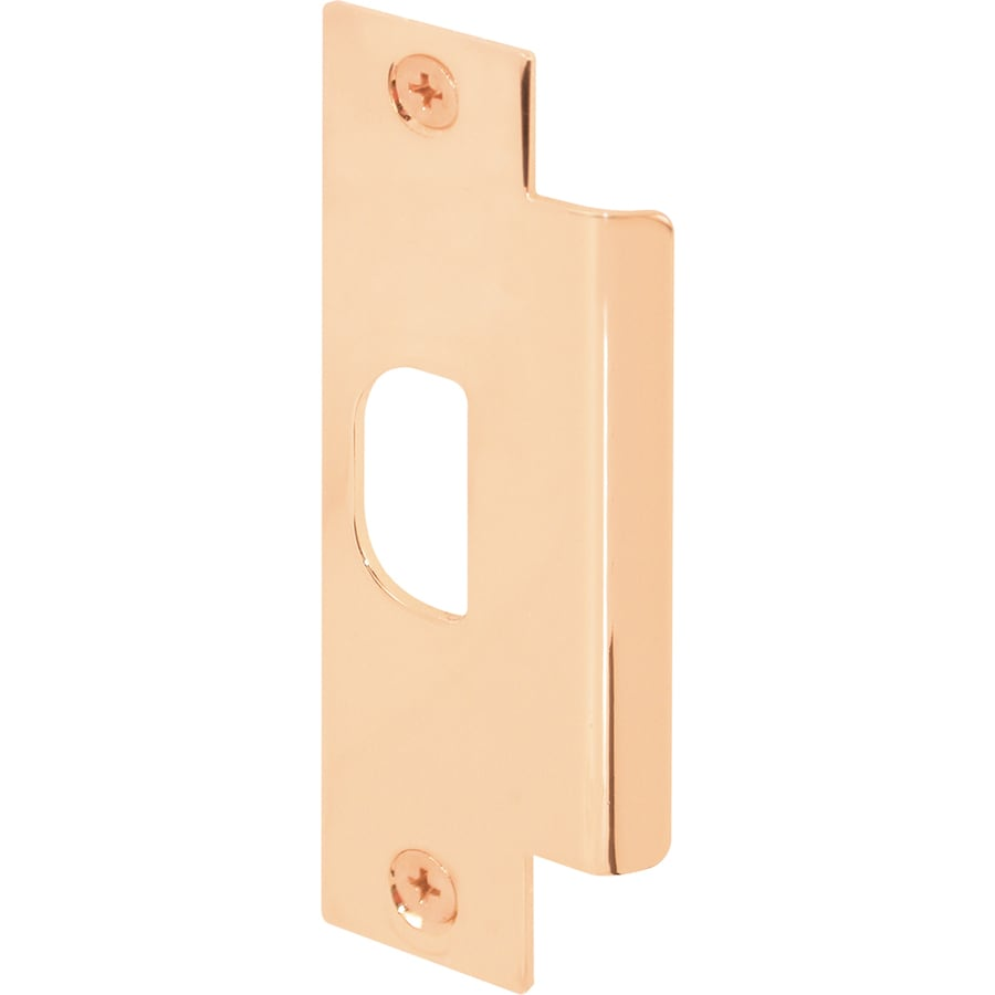 Shop Gatehouse Brass Entry Door Strike Plate At Lowes