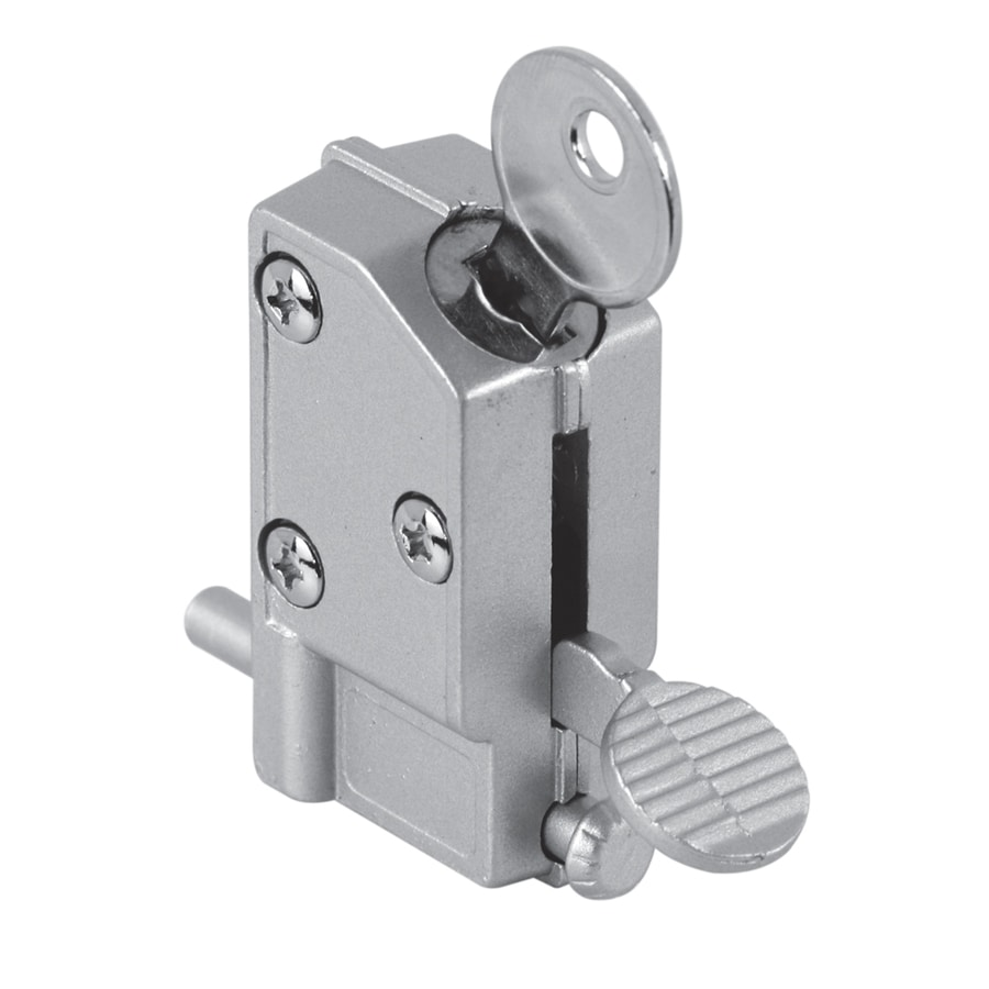 Gatehouse Step On Keyed Aluminum Finish Sliding Patio Door Cylinder Lock