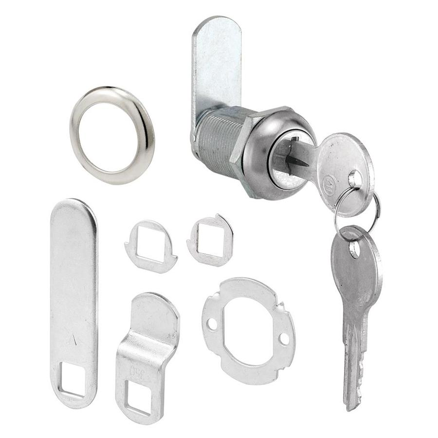 Gatehouse 7/8-in Chrome Die-Cast Drawer and Cabinet Lock