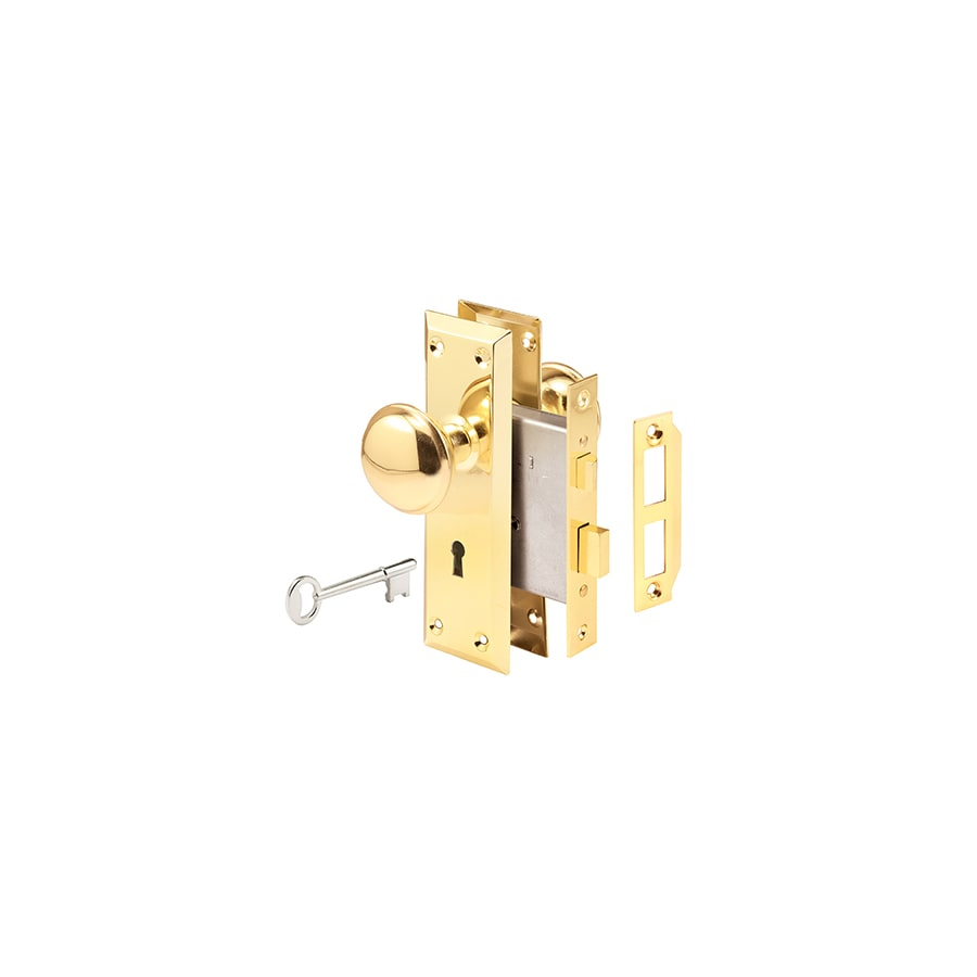 Shop Gatehouse Brass Keyed Entry Door Handleset At Lowes