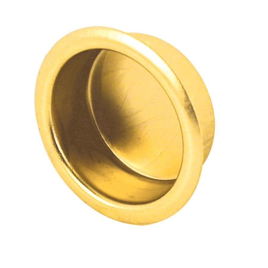 Prime-Line 0.75-in Polished Brass Sliding Closet Door Finger Pull