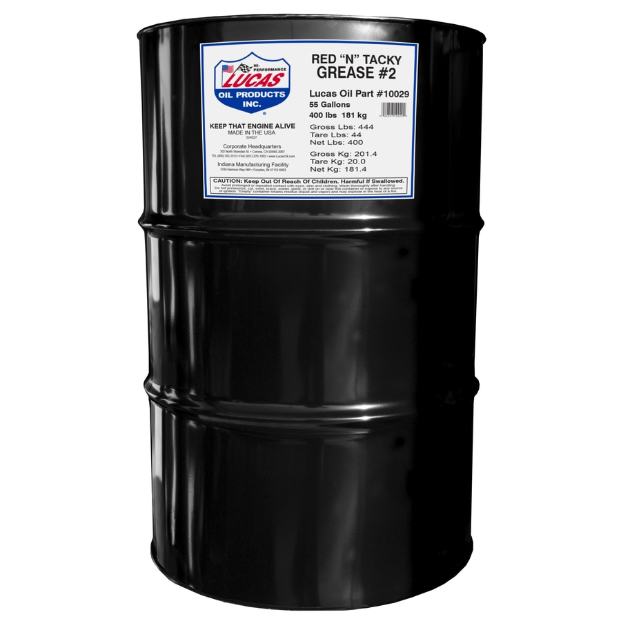 Lucas Oil Products 400-lb Red N Tacky Grease Drum