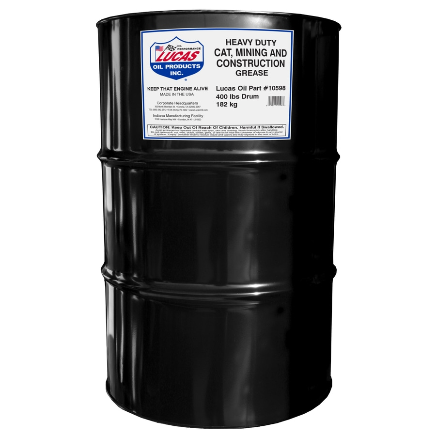 Lucas Oil Products 400-lb Heavy Duty Cat Mining and Construction Grease Drum
