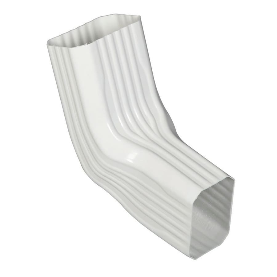 Amerimax 8-in White Vinyl Front Elbow