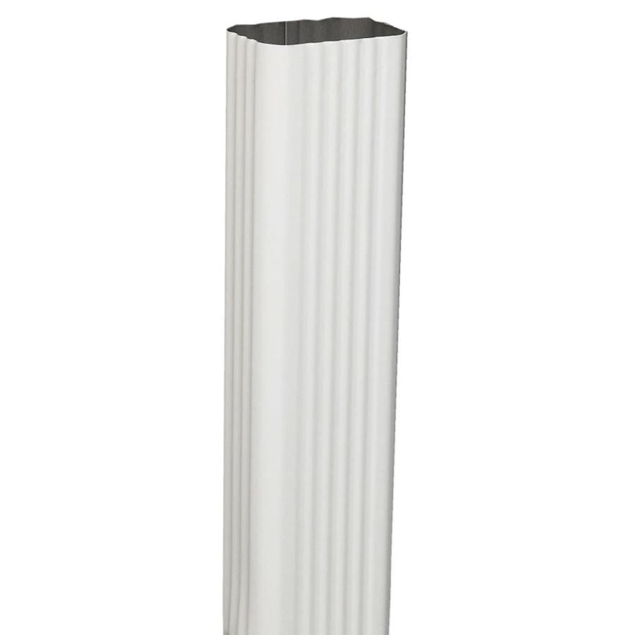 Amerimax Professional Grade 120-in Hi-Gloss White Aluminum Downspout