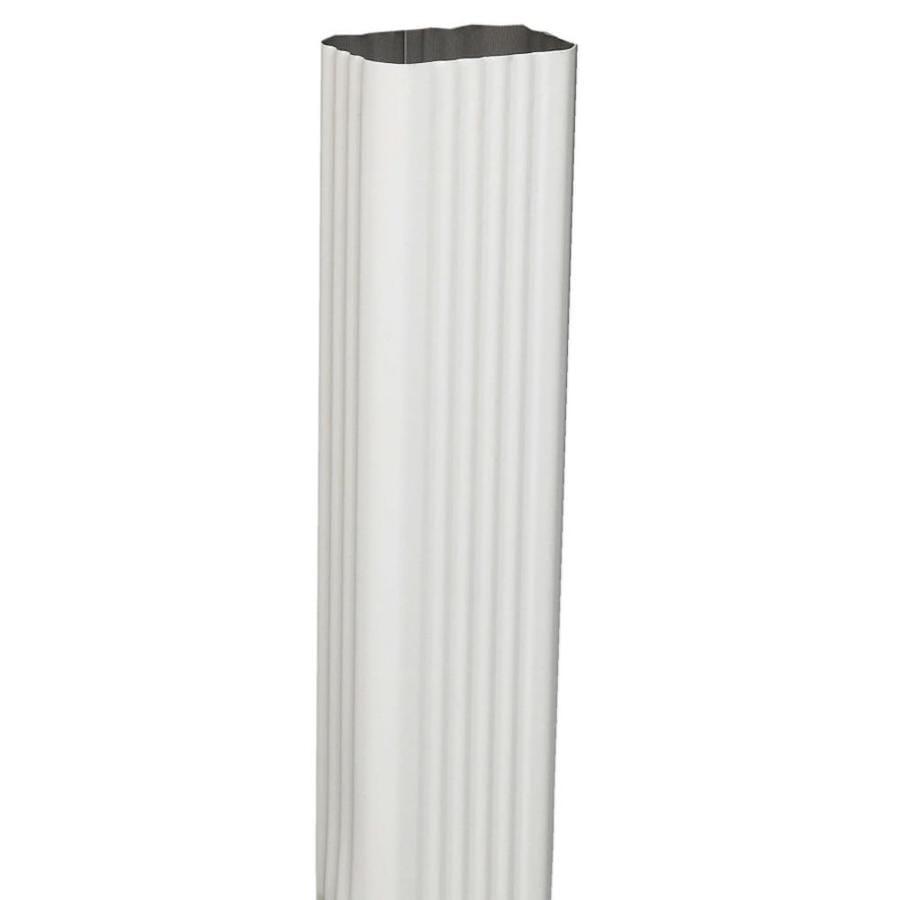 Amerimax Professional Grade 2.188-in Hi-Gloss White Aluminum Downspout
