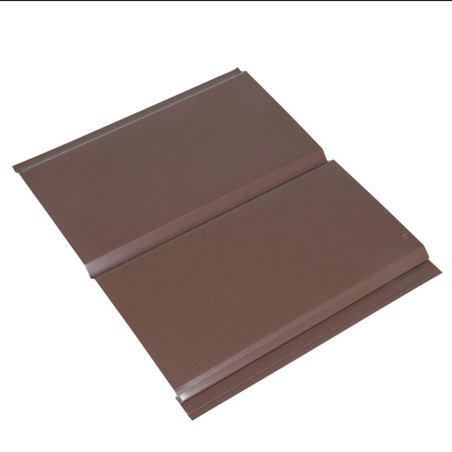 Amerimax 13-in x 144-in Musket Brown Aluminum Solid Soffit