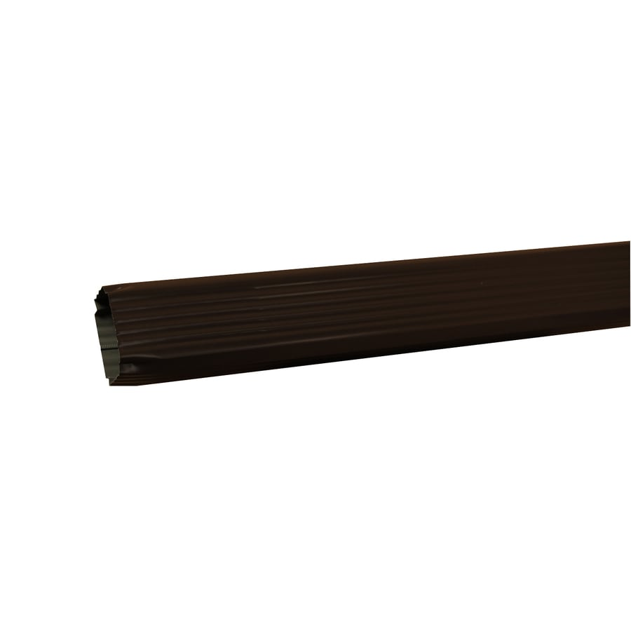 Amerimax 120-in Musket Brown Aluminum Downspout