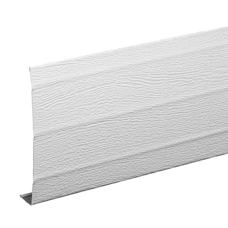 Amerimax 6-in x 12-ft White Woodgrain Aluminum Fascia